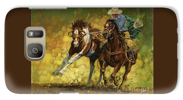 Time Galaxy S7 Case - Rodeo Pickup by Don  Langeneckert