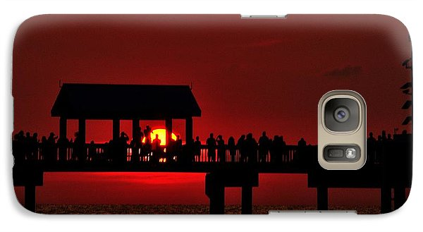 Galaxy Case featuring the photograph Crimson Sunset by Richard Zentner