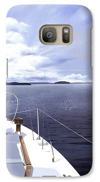 Galaxy Case featuring the painting Cruising North by Gary Giacomelli