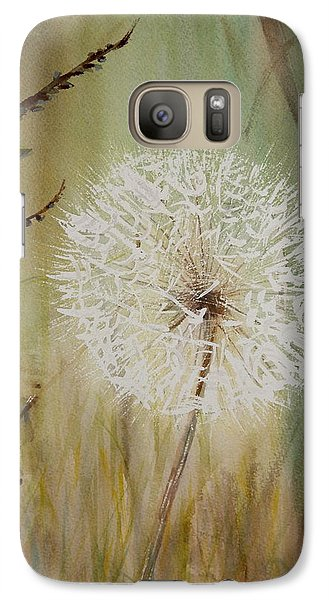 Galaxy Case featuring the painting Dandelion by Betty-Anne McDonald