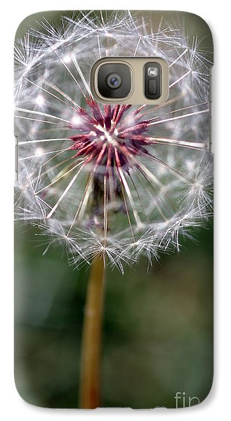 Galaxy Case featuring the photograph Dandelion Seed Head by Henrik Lehnerer