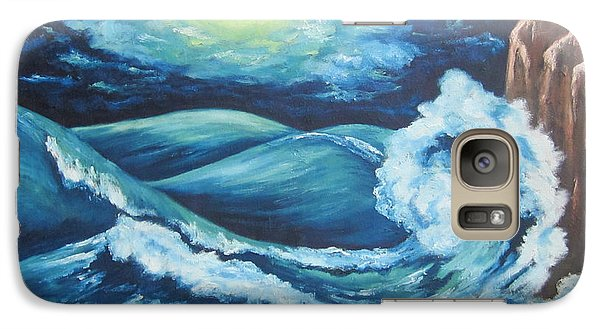 Galaxy Case featuring the painting Deep Water by Cheryl Pettigrew
