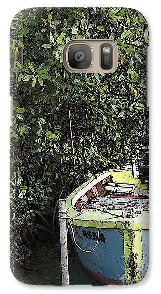 Galaxy Case featuring the photograph Docked By The Mangrove Trees by Lilliana Mendez