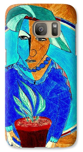 Galaxy Case featuring the drawing Dorothea by Bill OConnor