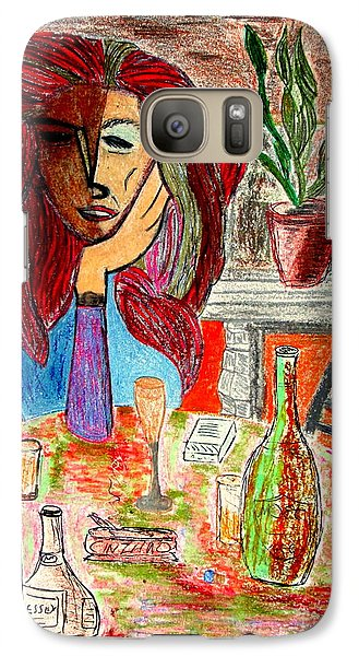 Galaxy Case featuring the drawing Dorothy's Party by Bill OConnor