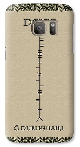 Galaxy Case featuring the digital art Doyle Written In Ogham by Ireland Calling