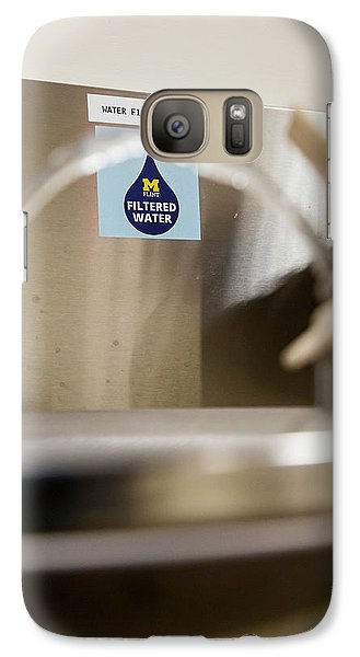 Drinking Water Filtration Sign Galaxy S7 Case by Jim West