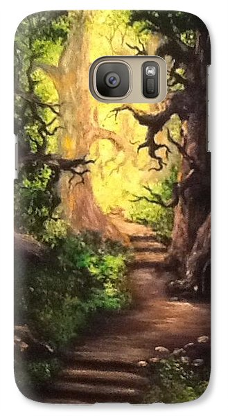 Galaxy Case featuring the painting Druid Forest by Megan Walsh