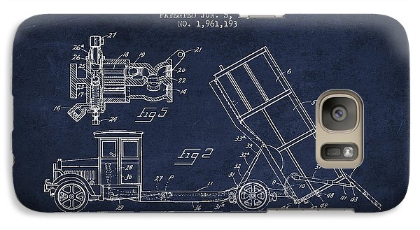 Dump Truck Patent Drawing From 1934 Galaxy Case by Aged Pixel
