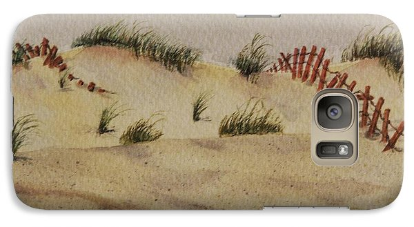 Galaxy Case featuring the painting Dunes by Mary Ellen Mueller Legault