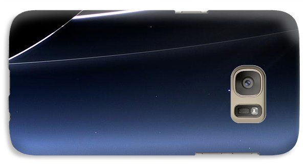 Earth And Moon From Saturn Galaxy S7 Case