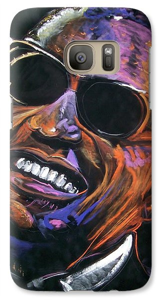 Galaxy Case featuring the mixed media electric Ray Charles by Peter Suhocke