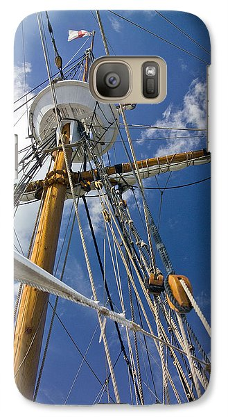 Galaxy Case featuring the photograph Elizabeth II Mast Rigging by Greg Reed