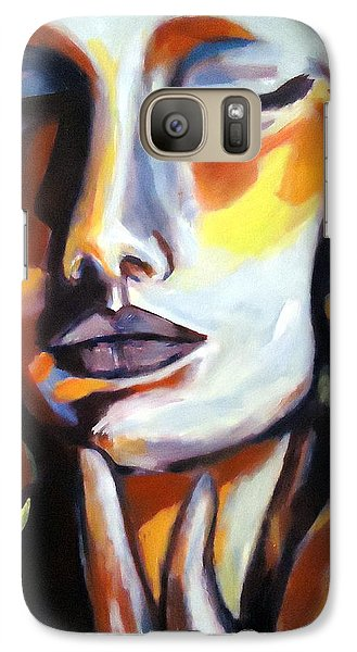Galaxy Case featuring the painting Emotion by Helena Wierzbicki
