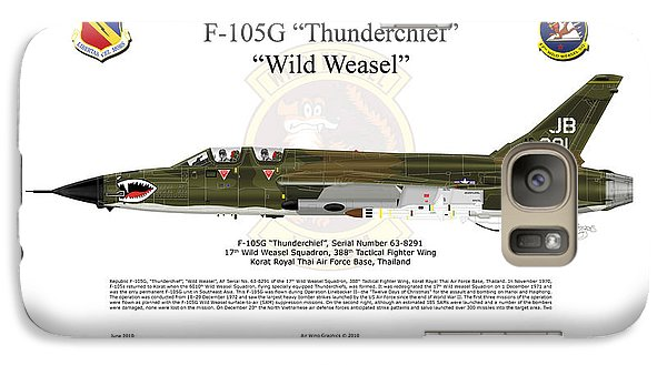 Galaxy Case featuring the digital art F-105g Thunderchief Wild Weasel by Arthur Eggers