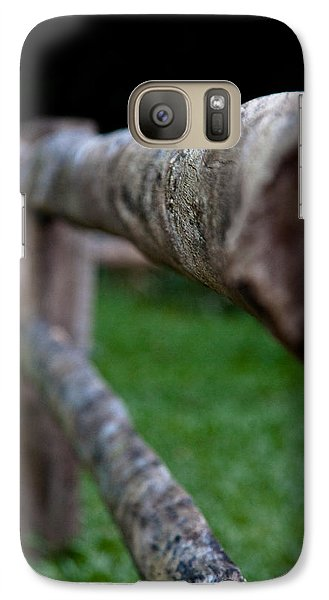 Galaxy Case featuring the photograph Farm Fence by Carole Hinding