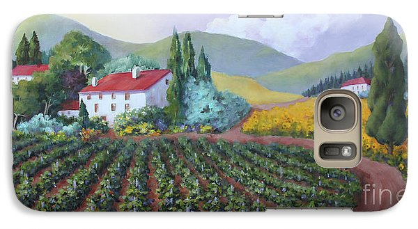 Galaxy Case featuring the painting Fields Of Tuscany by Marta Styk