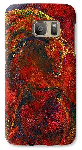 Galaxy Case featuring the painting Fire Dance Horse II by Jennifer Godshalk