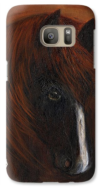 Galaxy Case featuring the painting Firestorm by Barbie Batson