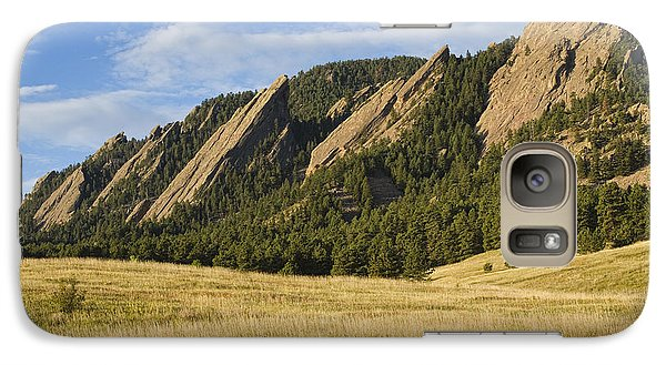 Flatirons With Golden Grass Boulder Colorado Galaxy S7 Case