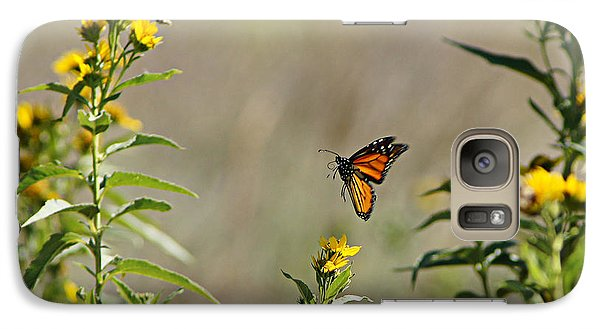 Galaxy Case featuring the photograph Flight Of The Monarch by Thomas Bomstad