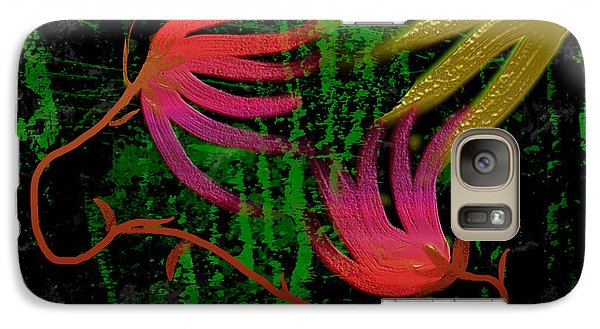 Galaxy Case featuring the digital art Floral Fantasy by Asok Mukhopadhyay