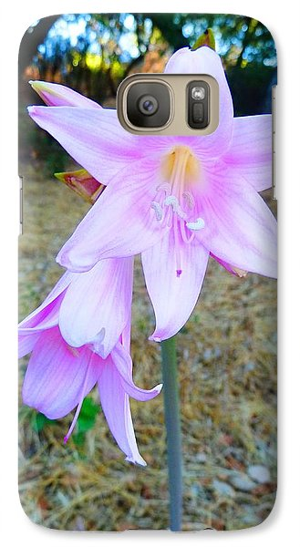 Galaxy Case featuring the photograph 2 Flowers by Julia Ivanovna Willhite