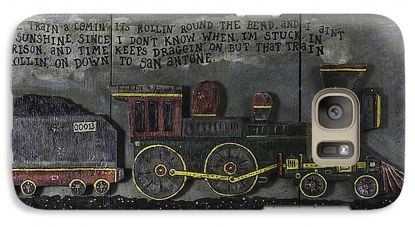 Galaxy Case featuring the painting Folsom Prison Train by Eric Cunningham