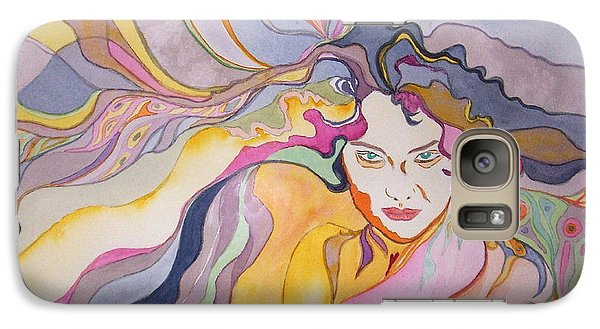 Galaxy Case featuring the painting Forever by Diana Bursztein