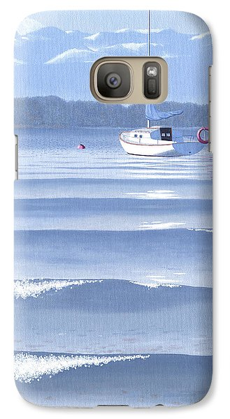Galaxy Case featuring the painting From The Beach by Gary Giacomelli