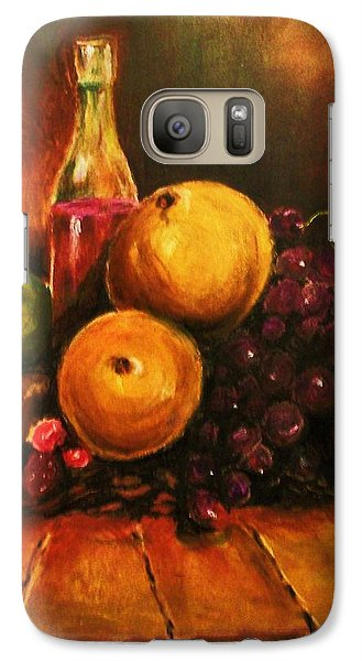 Galaxy Case featuring the painting Fruit And Wine by Al Brown