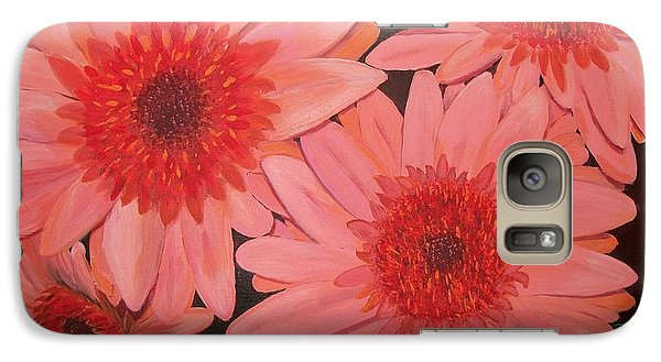 Galaxy Case featuring the painting Gerber Daisies by Sharon Duguay
