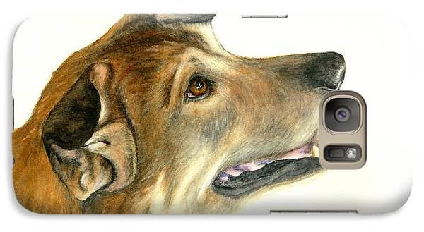 Galaxy Case featuring the painting German Shepherd Dog by Nan Wright