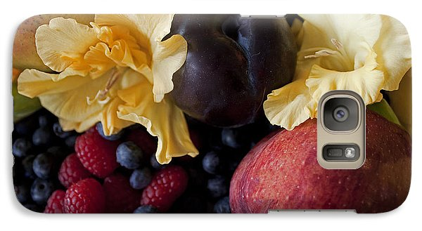 Galaxy Case featuring the photograph Gladiolus And Fruits by Ivete Basso Photography