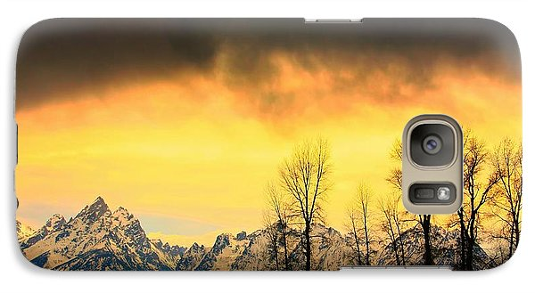 Galaxy Case featuring the photograph Grand Tetons Wyoming by Amanda Stadther