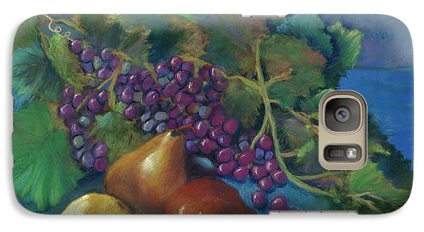 Galaxy Case featuring the pastel Grapes And Pears by Antonia Citrino