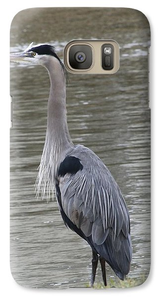 Galaxy Case featuring the photograph Great Blue Heron by Jeanne Kay Juhos