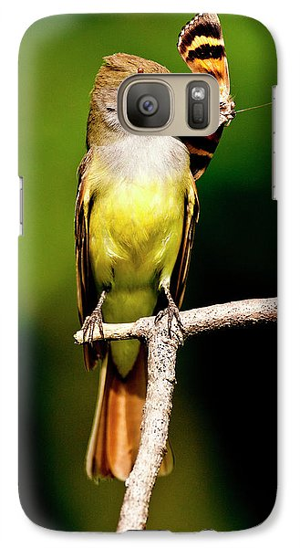 Flycatcher Galaxy S7 Case - Great Crested Flycatcher Myiarchus by David Northcott