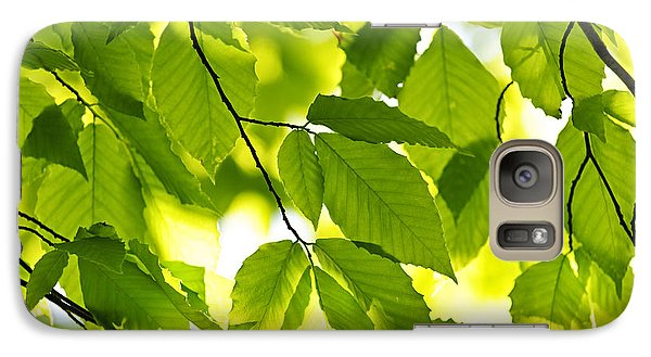 Green Spring Leaves Galaxy S7 Case