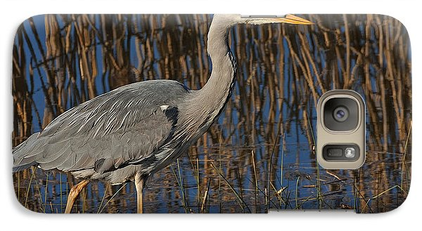 Galaxy Case featuring the photograph Grey Heron by Paul Scoullar