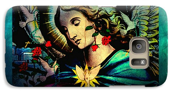 Galaxy Case featuring the digital art Heaven's Angel by Mary Anne Ritchie