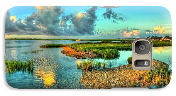 Galaxy Case featuring the photograph High Tide by Ed Roberts