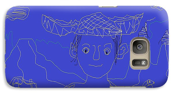 Galaxy Case featuring the painting Hillbilly Boy by Don Koester