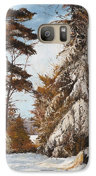 Galaxy Case featuring the painting Holland Lake Lodge Road - Montana by Mary Ellen Anderson