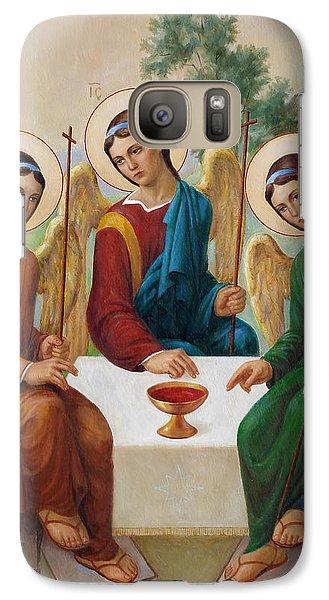 Galaxy Case featuring the painting Holy Trinity - Sanctae Trinitatis by Svitozar Nenyuk