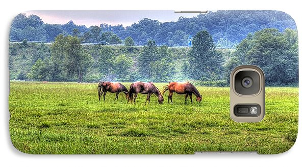 Galaxy S7 Case featuring the photograph Horses In A Field by Jonny D