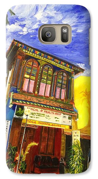 Galaxy Case featuring the painting House Of The Rising Palms by Belinda Low