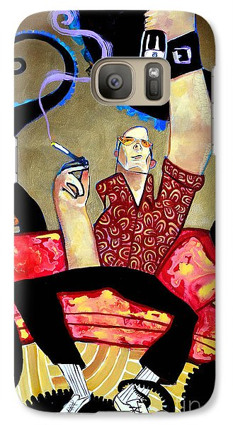 Galaxy Case featuring the painting Hunter S. Thompson by Robert Phelps