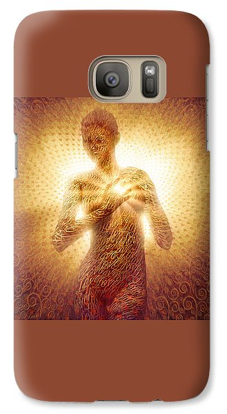 Galaxy Case featuring the painting I Am Love by Robby Donaghey