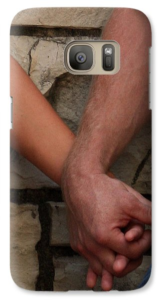 Galaxy Case featuring the photograph I Wanna Hold Your Hand by Lesa Fine